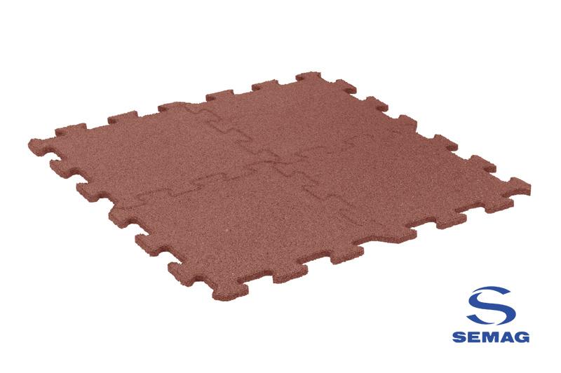 Płyta Semag fitness puzzel czerwony