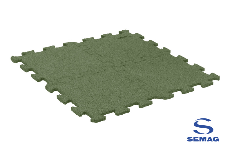 Płyta Semag fitness puzzel zielony
