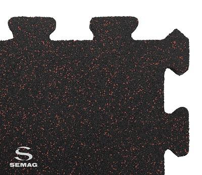 Płyta Semag fitness puzzel mix czerwony