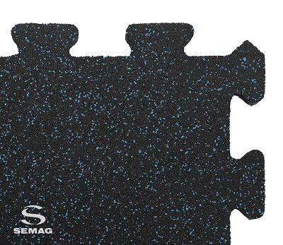 Płyta Semag fitness puzzel mix niebieski