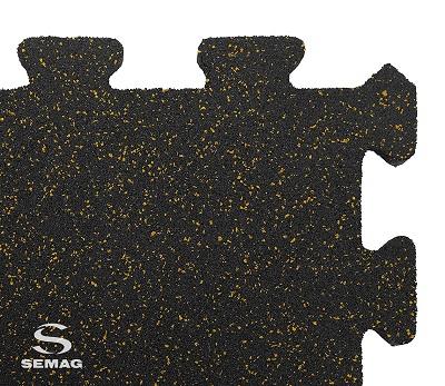 Płyta Semag fitness puzzel mix żółty
