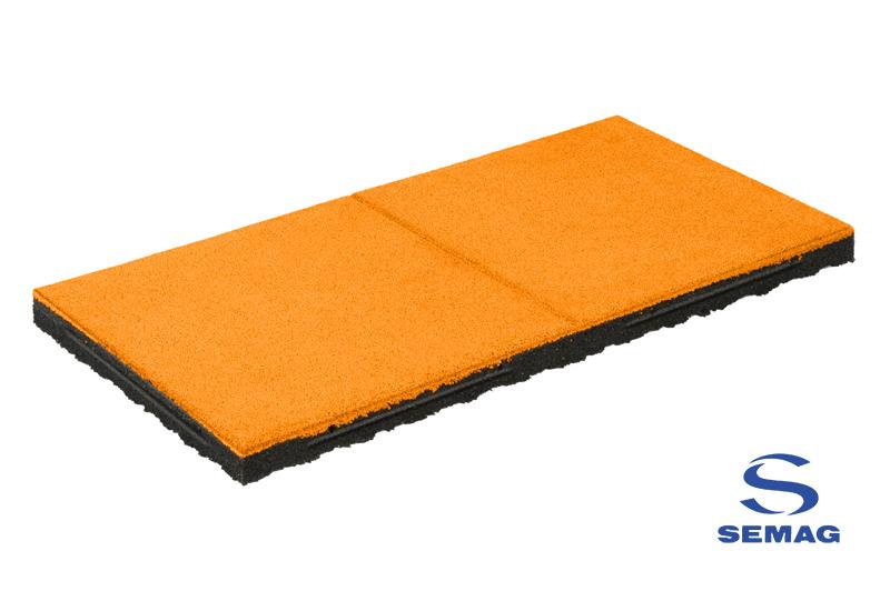 płyta prostokątna Semag T 100x100 EPDM orange