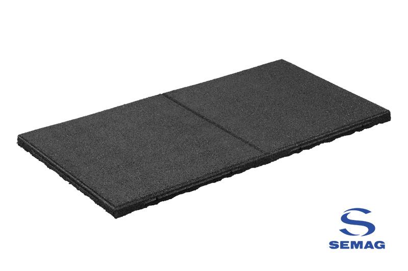 płyta prostokątna Semag T 50x100 SBR czarny